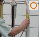 親綱兼用伸縮ロープの確認○